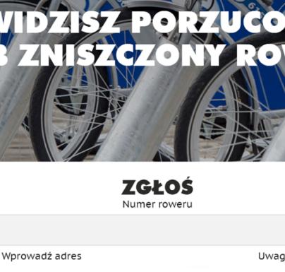 """(Polski) Widzisz porzucony rower? Skorzystaj z aplikacji """"Zgłoś rower"""""""